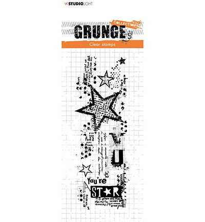 Studio Light Clear Stempel Grunge Collection 3.0 Stern Nr. 411 STAMPSL411