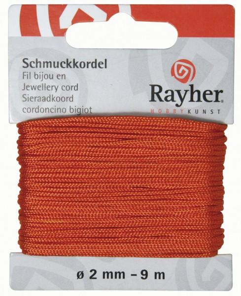 Schmuckkordel 2 mm ORANGE 89-569-34