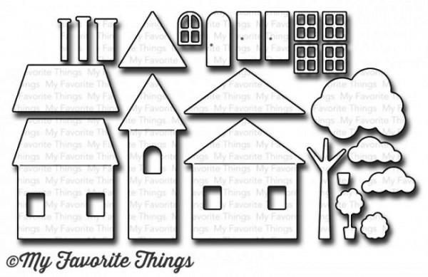 Dienamics Stanzform Häuser / Home Sweet Home MFT-1041