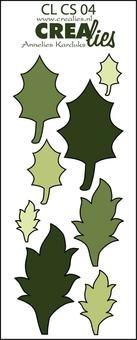 Crealies Stanzform Creative Shapes # 4 Blätter CLCS-04 ( grün