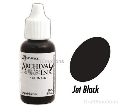 Archival Nachfüllfarbe JET BLACK ( schwarz ) ARR30799