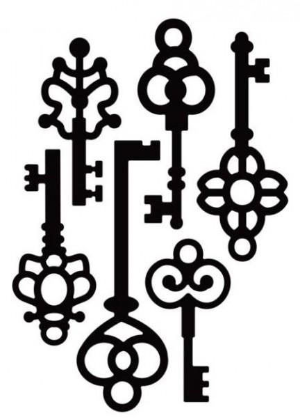 Die-Versions Stanzform Schlüssel antik / Vintage Keys DV-452