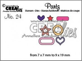 Crealies Partz Nr.24 Labels & Tags Add Ons Anhänger 2 CLPartz24