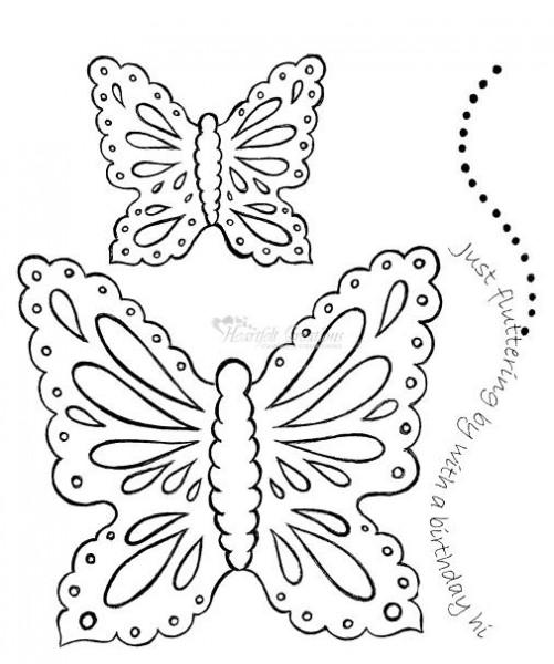 Heartfelt Creations Stempel Tropical Butterfly HC 226C-PC