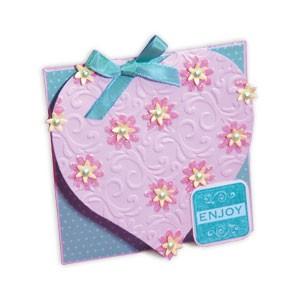 Sizzix Stanzform BIGZ XL Herz-Karte/ card heart 656417