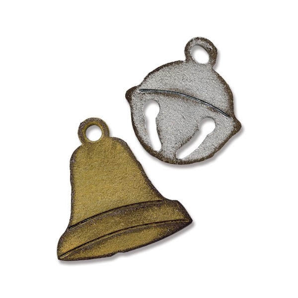 Sizzix Einsatz-Stanzform Movers & Shapers Weihnachtsglöckchen / Jingle Bell & Christmas Bell 658773