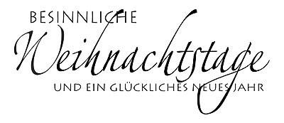 """KnorrPrandell Holz-Stempel """" Besinnliche Weihnachtstage und ein glückliches neues Jahr """" 1821211"""