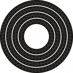 Marianne D Craftables Stanzform Kreis mit Nähnaht innen u. außen / Passe Partouts Rond CR1360