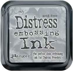 Distress Embossing - Stempelkissen CLEAR TIM21643 ( grau )