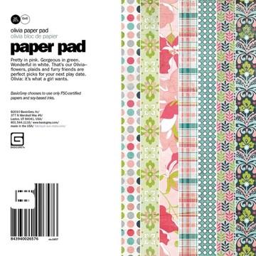 Paper Pad OLIVIA 15,2 cm x 15,2 cm VIA-2657
