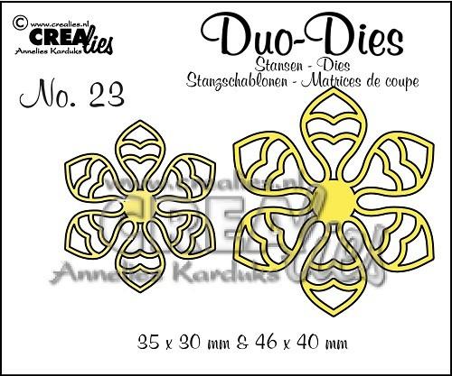 Crealies Duo Dies Blumen 14 Nr. 23 CLDD23