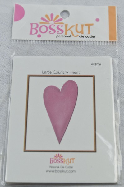 Bosskut Stanzform Country Herz groß / large country heart 0506