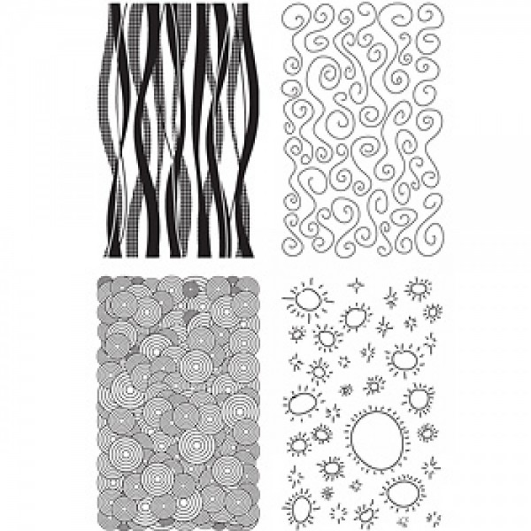 Sizzix Clear Stamps Hintergründe # 2 / backgrounds # 2 654950