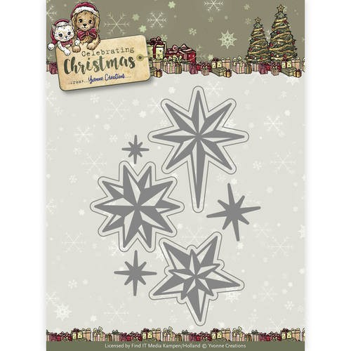 Yvonne Creations Stanzform Sterne / Twinkling Stars YCD10109