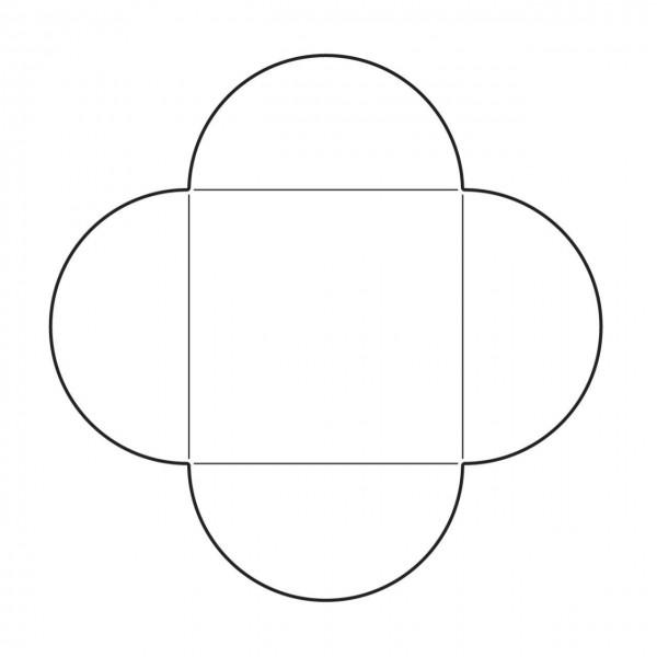 Savvystamps Stanzform Umschlag quadratisch u. Karte 4,7 cm x 4,7 cm / Square Envelope 10132