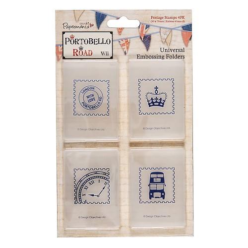 Docrafts Papermania Prägefolder Briefmarken / Postage Stamps PMA515005