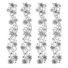 RubOns Borten Blumen 655 081