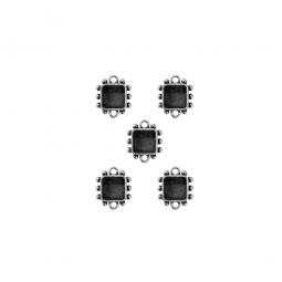 Spellbinders Schmuckanhänger SILBER Squares One MB1-502S (5 Stüc
