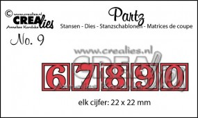 Crealies Partz Nr. 9 Zahlen 6 - 0 CLPartz09