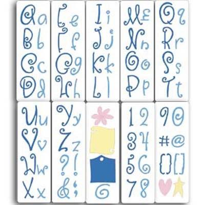 Cuttlebug Alphabet Curls & Swirls 115639/6012 ( 37-1054 )