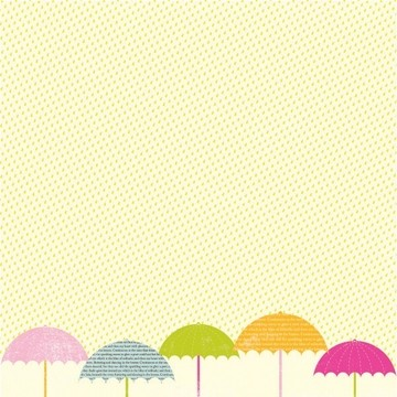 "Making Memories Papier Flitter Umbrella Thermography 12""x12"" 33778"