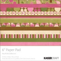 """Paper Pad Hey Birdie 6 """" x 6 """" ( 15,2 cm x 15,2 cm ) PP821"""