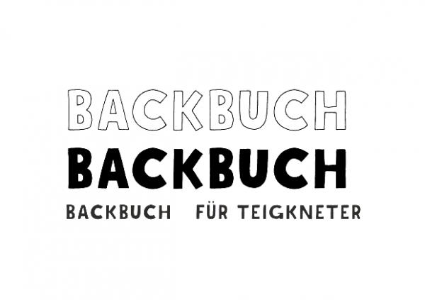 AEH Design Mini-Stempelset ' Backbuch ' 1500 G
