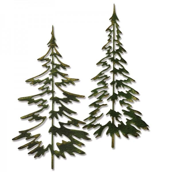 Sizzix Thinlits Stanzform Bäume / Woodlands 660978