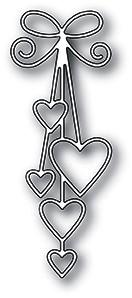 Memorybox Stanzform Herzen an Bänder / Ribbon Hearts 99931