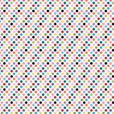 "Core'dinations Core Basics Cardstock 12 "" x 12 "" ROSA Punkte mehrfarbig / Light Pink Multidot GX-230"