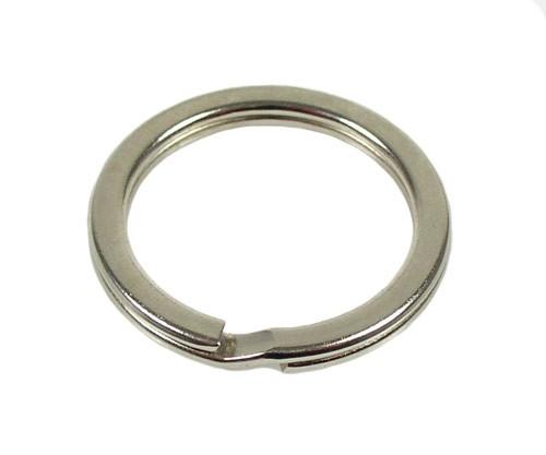 Schlüsselring flach vernickelt , Durchmesser 26 mm
