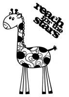 Prima Marketing Clear Stempel Giraffe 83053
