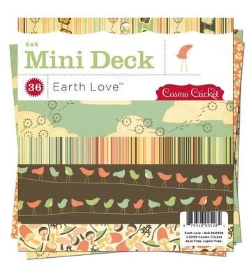 "Mini Deck Papierblock Earth Love 6 "" x 6 "" PAD526"