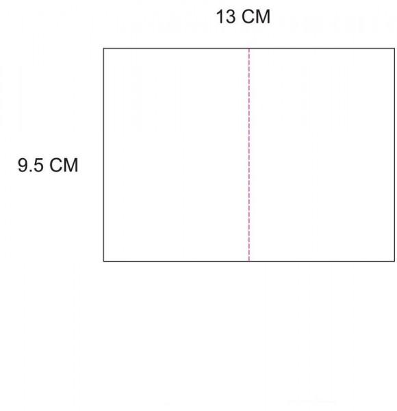 Eigendesign Karte 9,5 cm x 6,5 cm