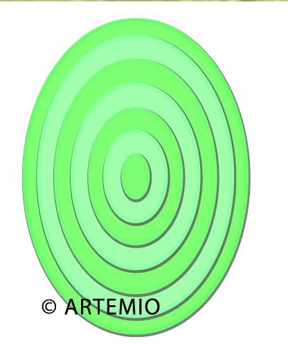 Artemio Happycut Stanz-u. Prägeformen Ovale 18044003