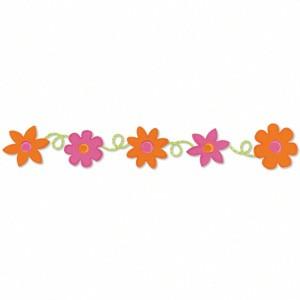 Sizzix Stanzform Sizzlits Borderr Blumen u. Loopies / floers loopy 654482