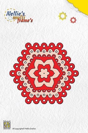 Nellie Stanz- u. Prägeformen Multi Dots Hexagon MFD026
