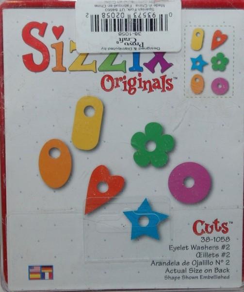 Sizzix Stanzform Originals LARGE Ösen-Unterleger # 2 / eyelet washer # 2 38-1058