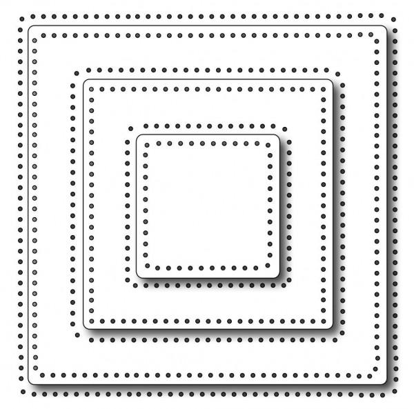 Frantic Stamper Stanzform Quadrate mit Nadelstichen / Pinprick Squares FRA-DIE-09645
