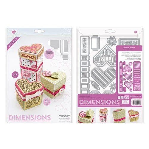 Tonic Studios Stanzform Diamond Cut Heart Box 2549E
