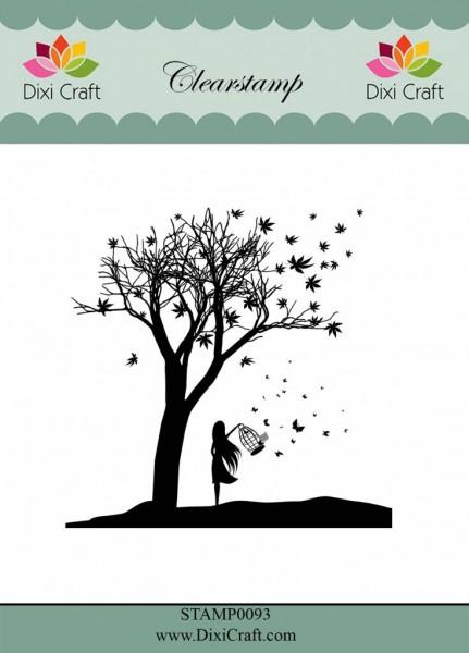 Dixi Craft Clear Stempel Baum mit Mädchen / Tree with Girl STAMP0093