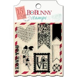 Bo Bunny Clear Stempel-Set love Letters 13505505