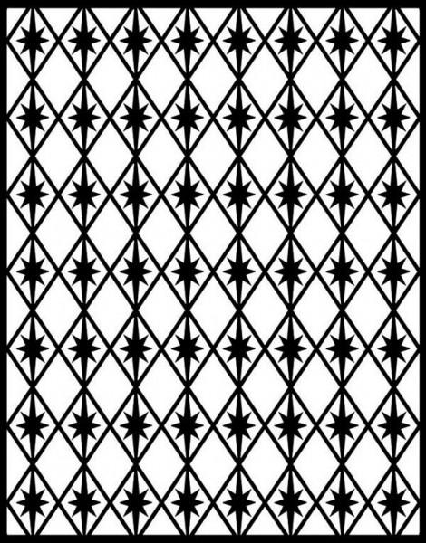 Spellbinders Impressabilities Rauten u. Sterne / Diamonds & stars I2-1007