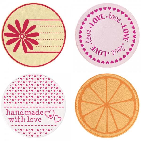 Fiskars Letterpress Platten-Set Medium Circle 0078 / 57-889-000