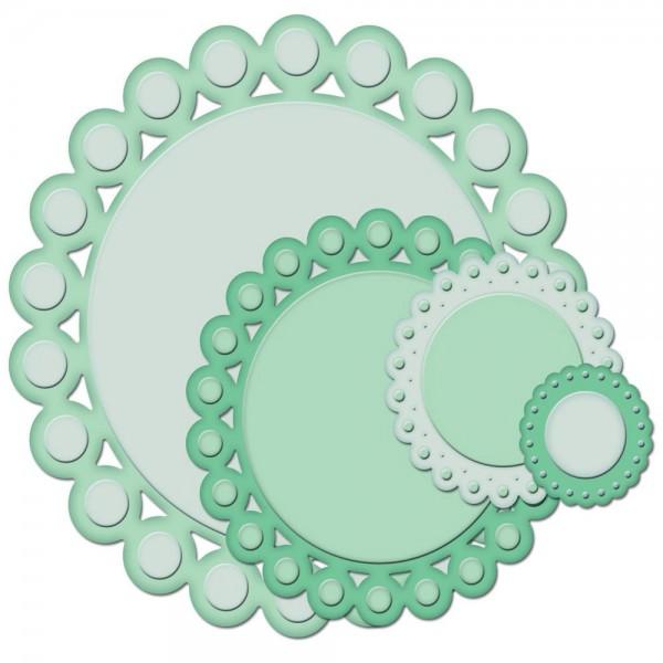 Perlen-Kreise / beaded circles S4-292