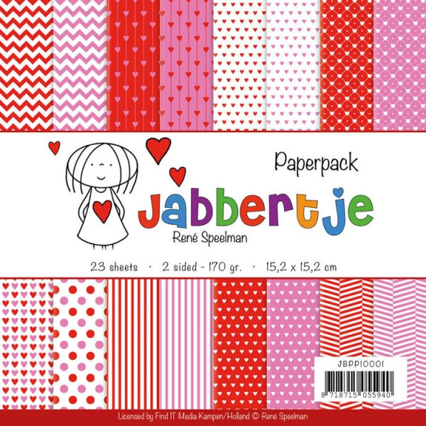 Jabbertje - Rene Speelman - Papierblock 15,2 cm x 15,2 cm JBPP10001