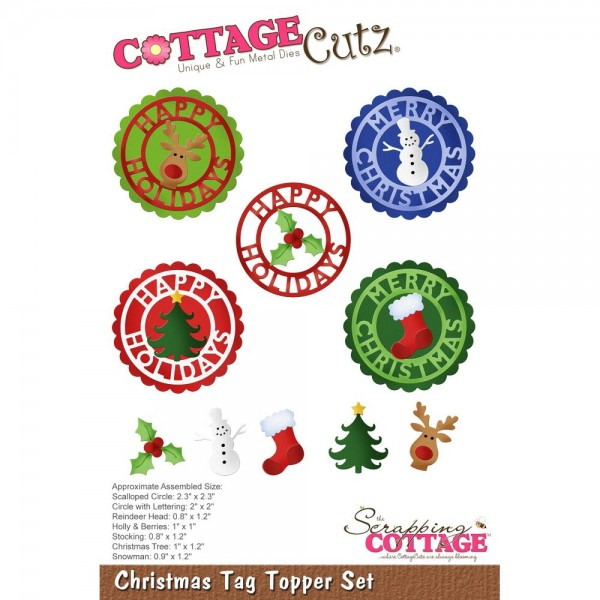 CottageCutz Stanzform Christmas Tag Topper Set CC-490