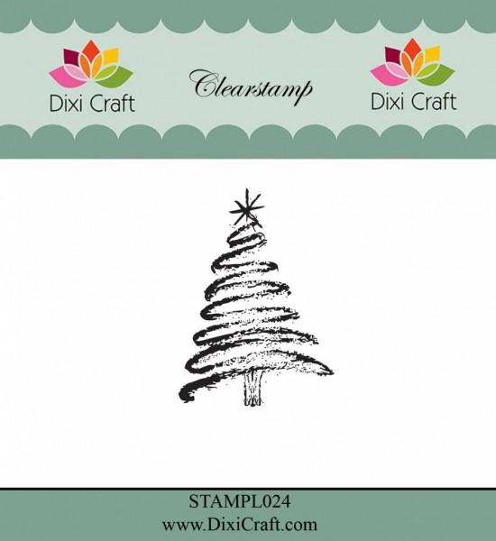Dixi Craft Clear Stempel Weihnachtsbaum / Christmas Tree STAMPL024