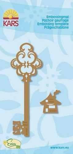Embossing-Schablone Schlüssel mit Haus 500000/8407
