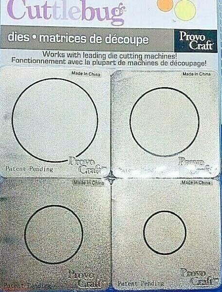 Cuttlebug Stanzform 4-er Set KLEIN Kreise / circles 37-1205